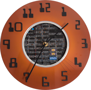 Clock with PCB