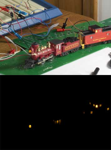 Train Lighting Composite Pictures